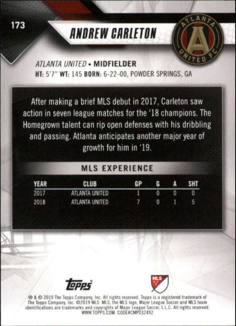 2019-Topps-MLS-Soccer-Base-Set-Cards-Choose-From-Card-039-s-1-200 thumbnail 347