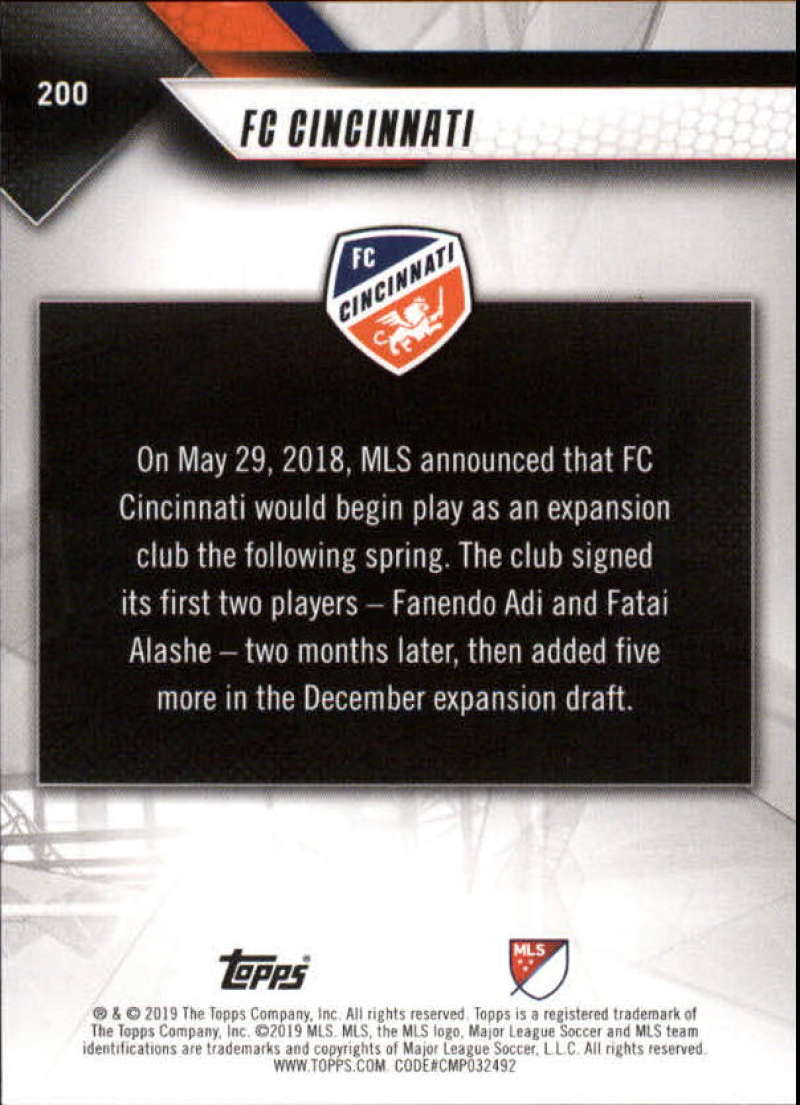 2019-Topps-MLS-Soccer-Base-Set-Cards-Choose-From-Card-039-s-1-200 thumbnail 401