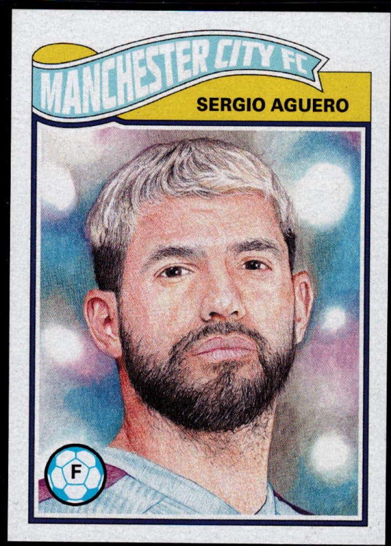 2019 Topps UCL Living Set UEFA Champions League #41 Sergio Aguero MANCHESTER CITY FC
