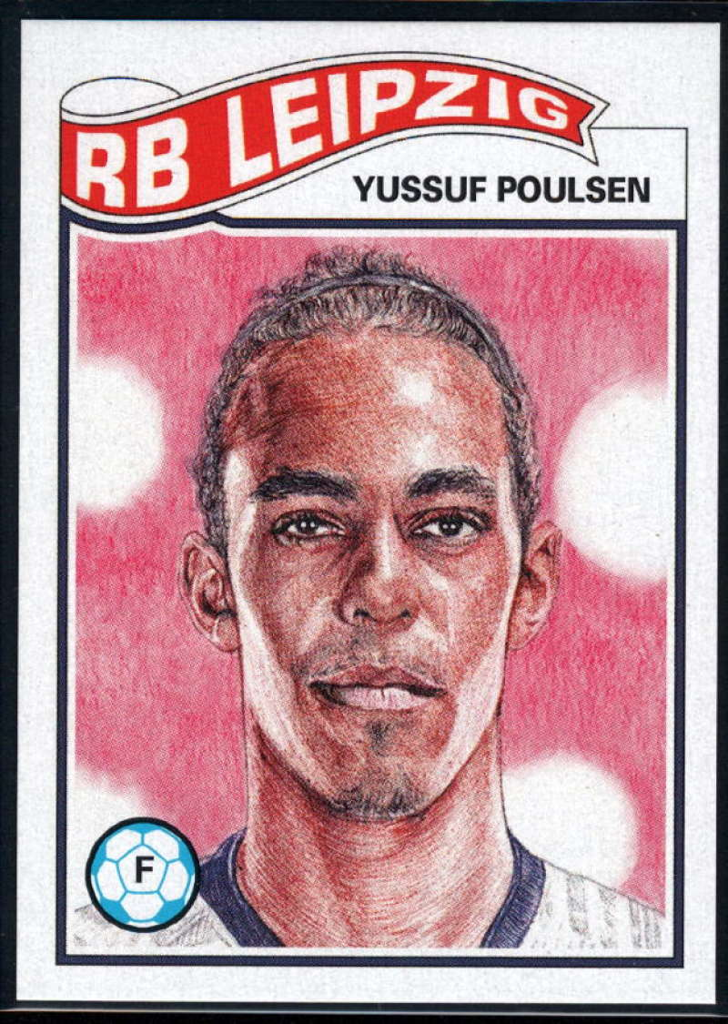 2019 Topps The UCL Living Set UEFA Champions League #93 Yussuf Poulsen RB Leipzig  Official Soccer Futbol Trading Card LIMITED PRINT RUN