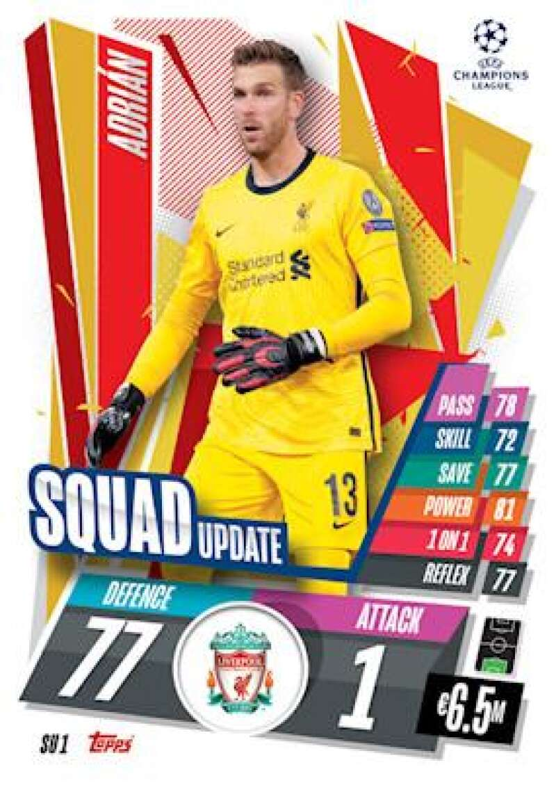 2020-21 Topps UEFA Champions League Match Attax Extra Squad Update