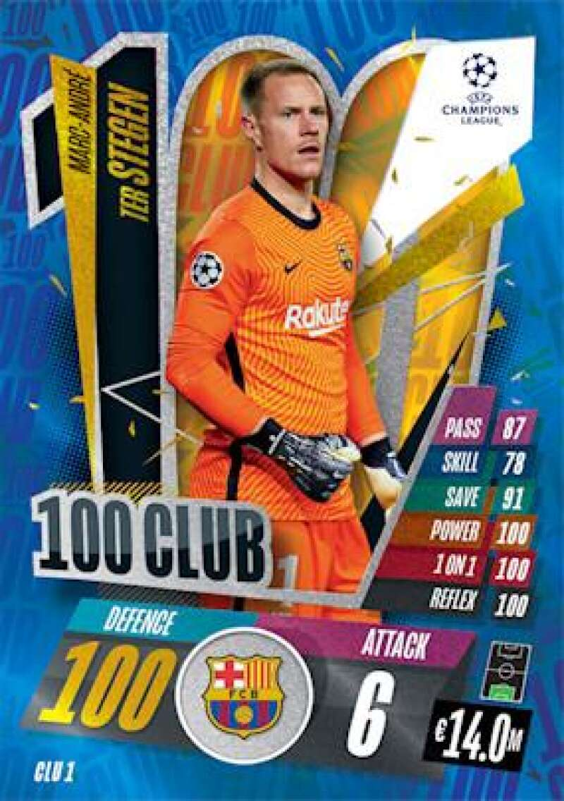 2020-21 Topps UEFA Champions League Match Attax Extra 100 Club