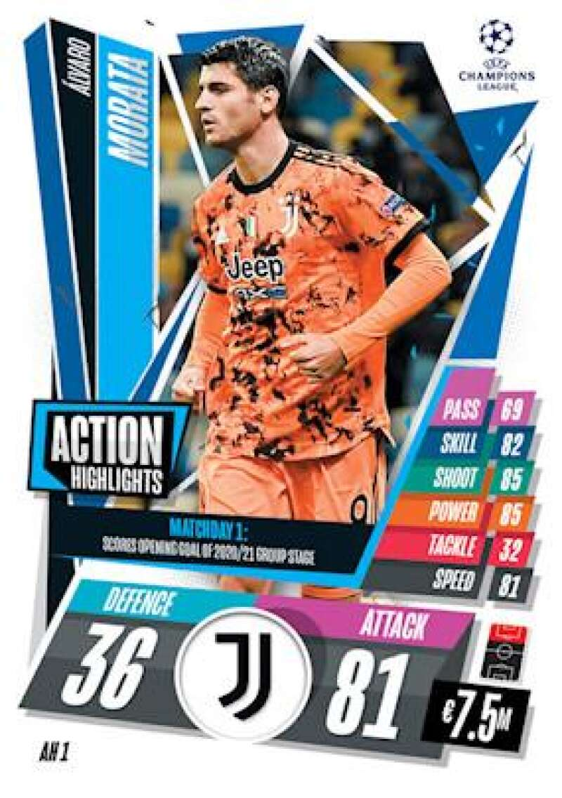 2020-21 Topps UEFA Champions League Match Attax Extra Action Highlight
