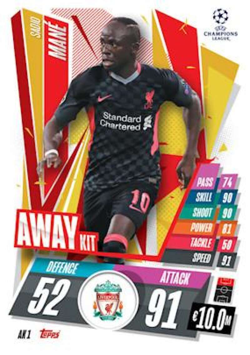 2020-21 Topps UEFA Champions League Match Attax Extra Away Kit