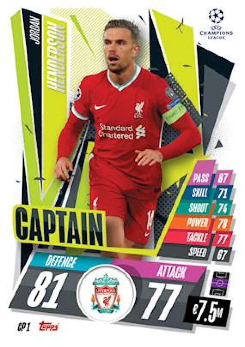 2020-21 Topps UEFA Champions League Match Attax Extra Captain