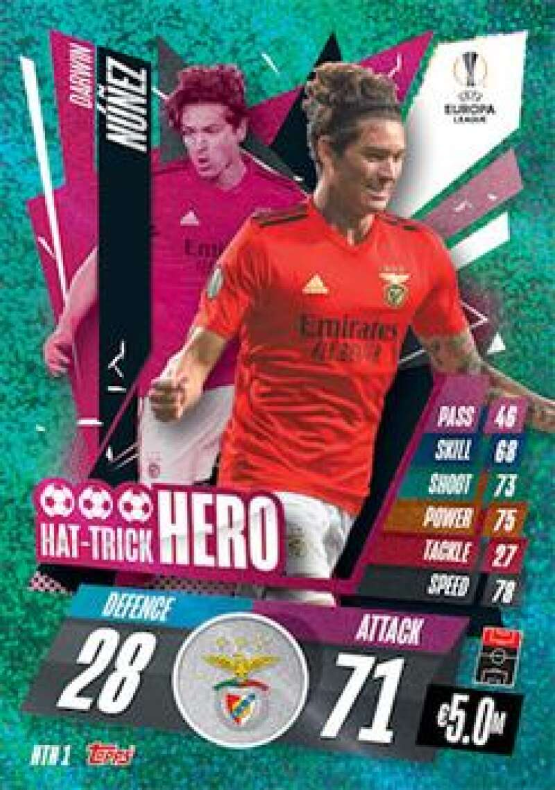 2020-21 Topps UEFA Champions League Match Attax Extra Hat-Trick Hero