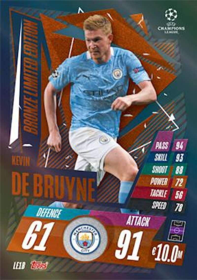 2020-21 Topps UEFA Champions League Match Attax Extra Limited Edition Bronze