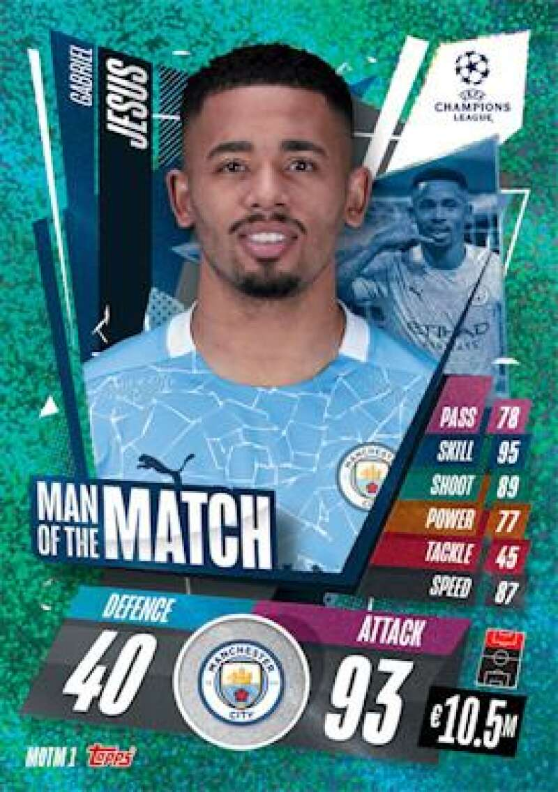 2020-21 Topps UEFA Champions League Match Attax Extra Man of the Match