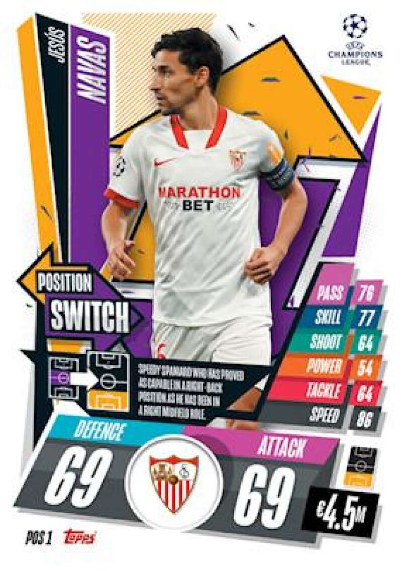 2020-21 Topps UEFA Champions League Match Attax Extra Position Switch