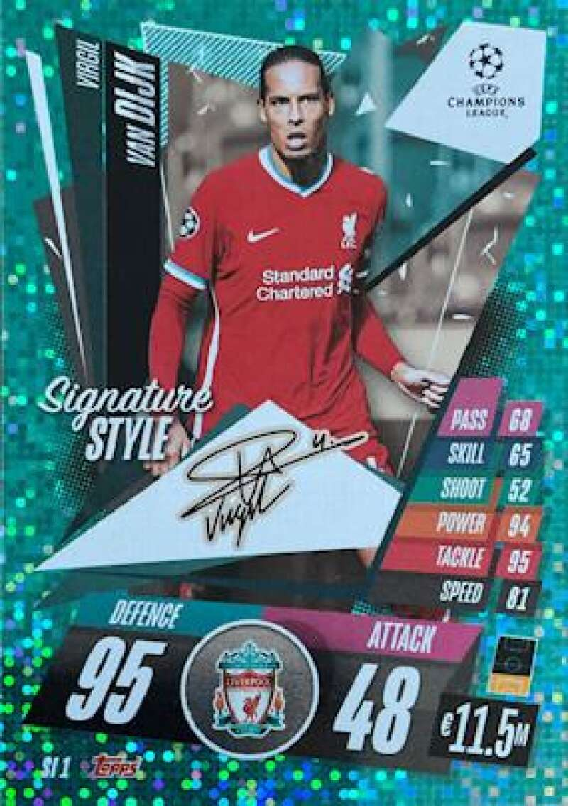 2020-21 Topps UEFA Champions League Match Attax Extra Signature Style
