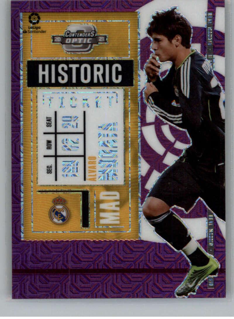 2020-21 Panini Chronicles Contenders Historic Rookie Ticket La Liga Purple Mojo