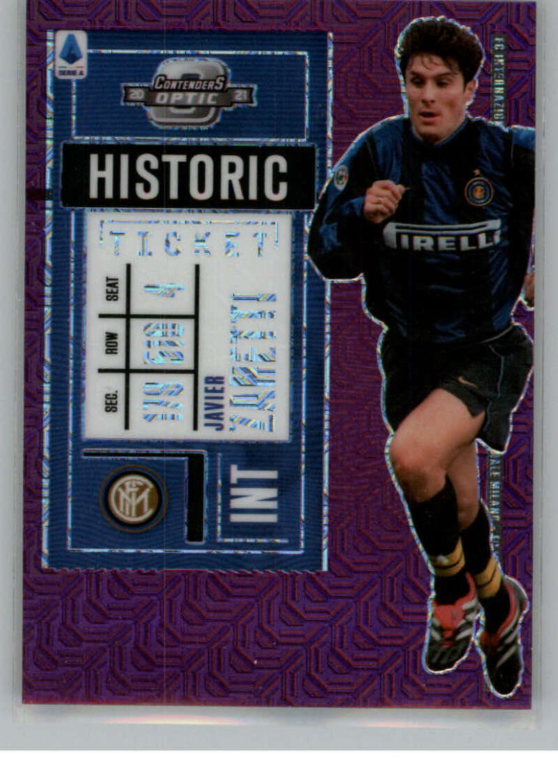2020-21 Panini Chronicles Contenders Historic Rookie Ticket Serie A Purple Mojo