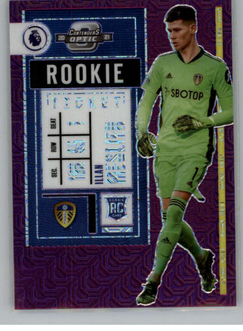 2020-21 Panini Chronicles Contenders Rookie Ticket Premier League Purple Mojo