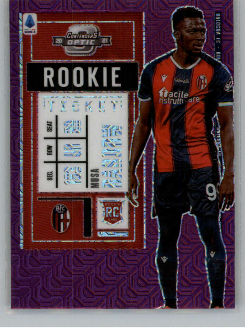 2020-21 Panini Chronicles Contenders Rookie Ticket Serie A Purple Mojo