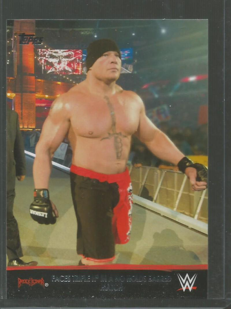 2016 Topps Heritage Brock Lesnar Tribute Part 7 #25 Faces Triple H in a No Holds Barred Match NM-MT