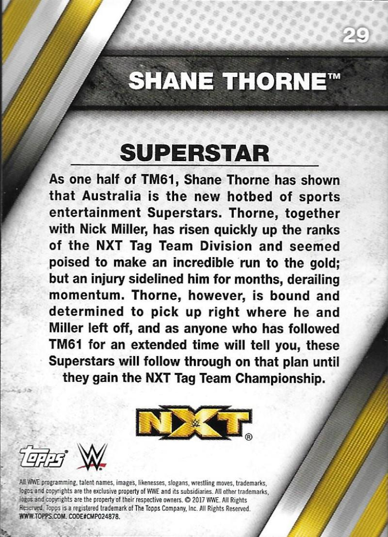 2017-Topps-WWE-NXT-Wrestling-Base-Set-Cards-Choose-From-Card-039-s-1-50