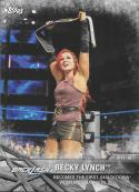 2017 Topps Women's Division Matches and Moments WWE #WWE-5 Becky Lynch Becomes the First SmackDown W