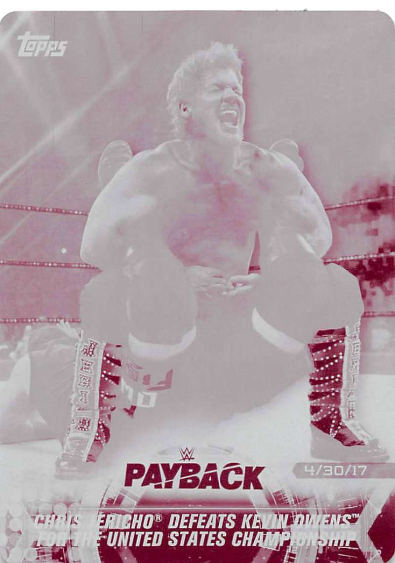 2018 Topps Road to WrestleMania Printing Plates Magenta