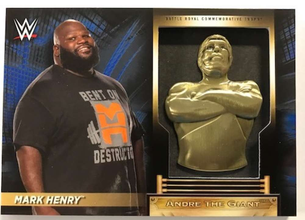 2018 Topps Road to WrestleMania Andre the Giant Battle Royal Commemorative Trophy Relics Blue