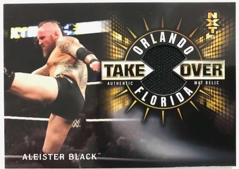 2018 Topps Road to WrestleMania NXT TakeOver Orlando Mat Relics