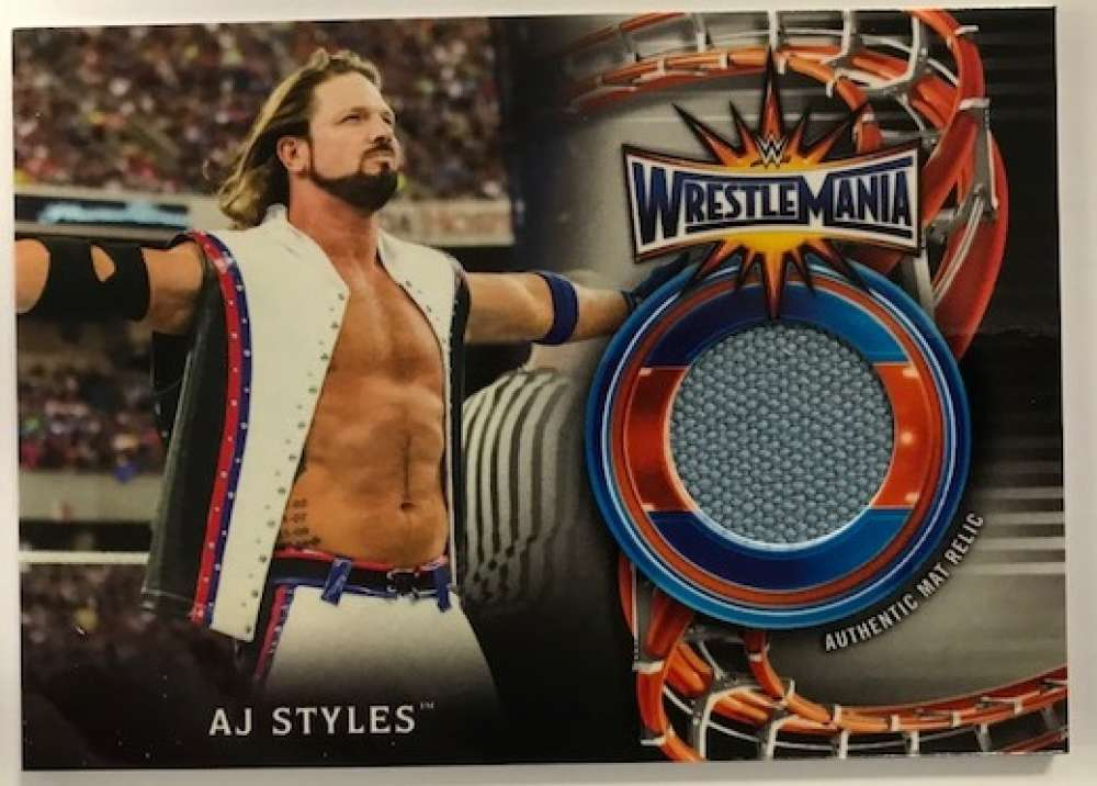 2018 Topps Road to WrestleMania WrestleMania 33 Mat Relics