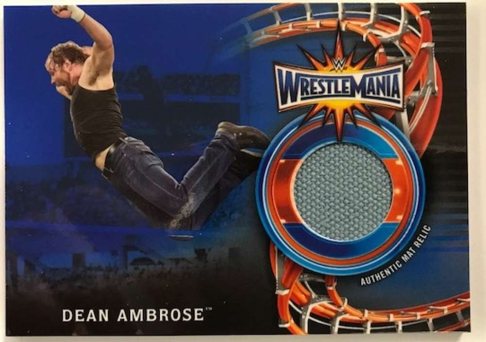 2018 Topps Road to WrestleMania WrestleMania 33 Mat Relics Blue