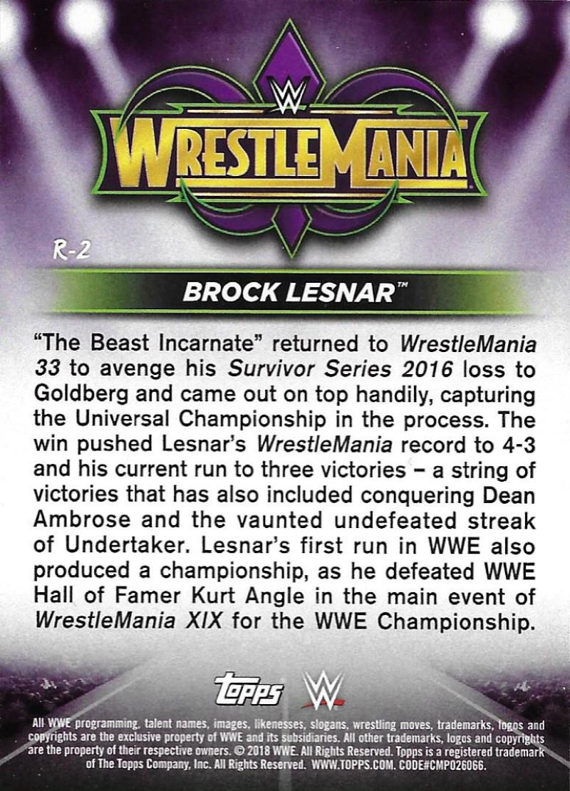 2018-Topps-WWE-Road-WrestleMania-Roster-Card-Singles-You-Pick-Complete-Your-Set thumbnail 3