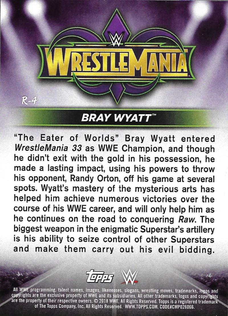 2018-Topps-WWE-Road-WrestleMania-Roster-Card-Singles-You-Pick-Complete-Your-Set thumbnail 5
