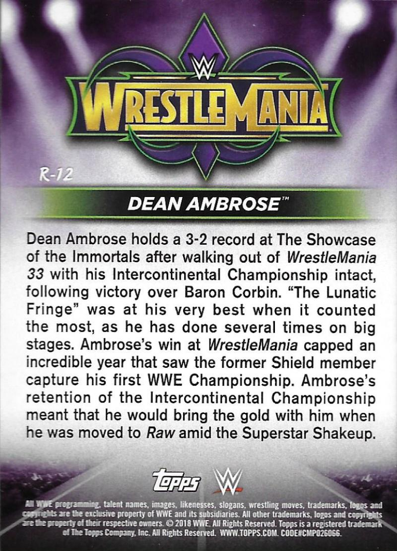 2018-Topps-WWE-Road-WrestleMania-Roster-Card-Singles-You-Pick-Complete-Your-Set thumbnail 15