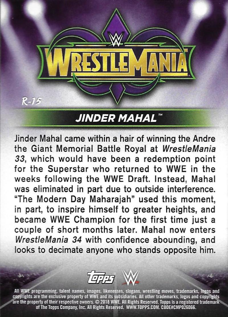 2018-Topps-WWE-Road-WrestleMania-Roster-Card-Singles-You-Pick-Complete-Your-Set thumbnail 19