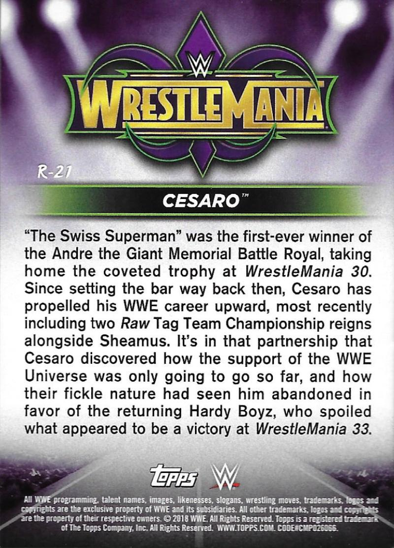 2018-Topps-WWE-Road-WrestleMania-Roster-Card-Singles-You-Pick-Complete-Your-Set thumbnail 25