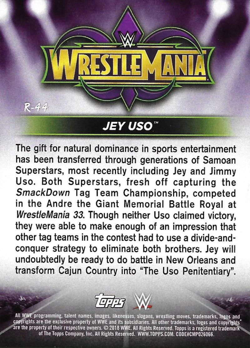2018-Topps-WWE-Road-WrestleMania-Roster-Card-Singles-You-Pick-Complete-Your-Set thumbnail 55