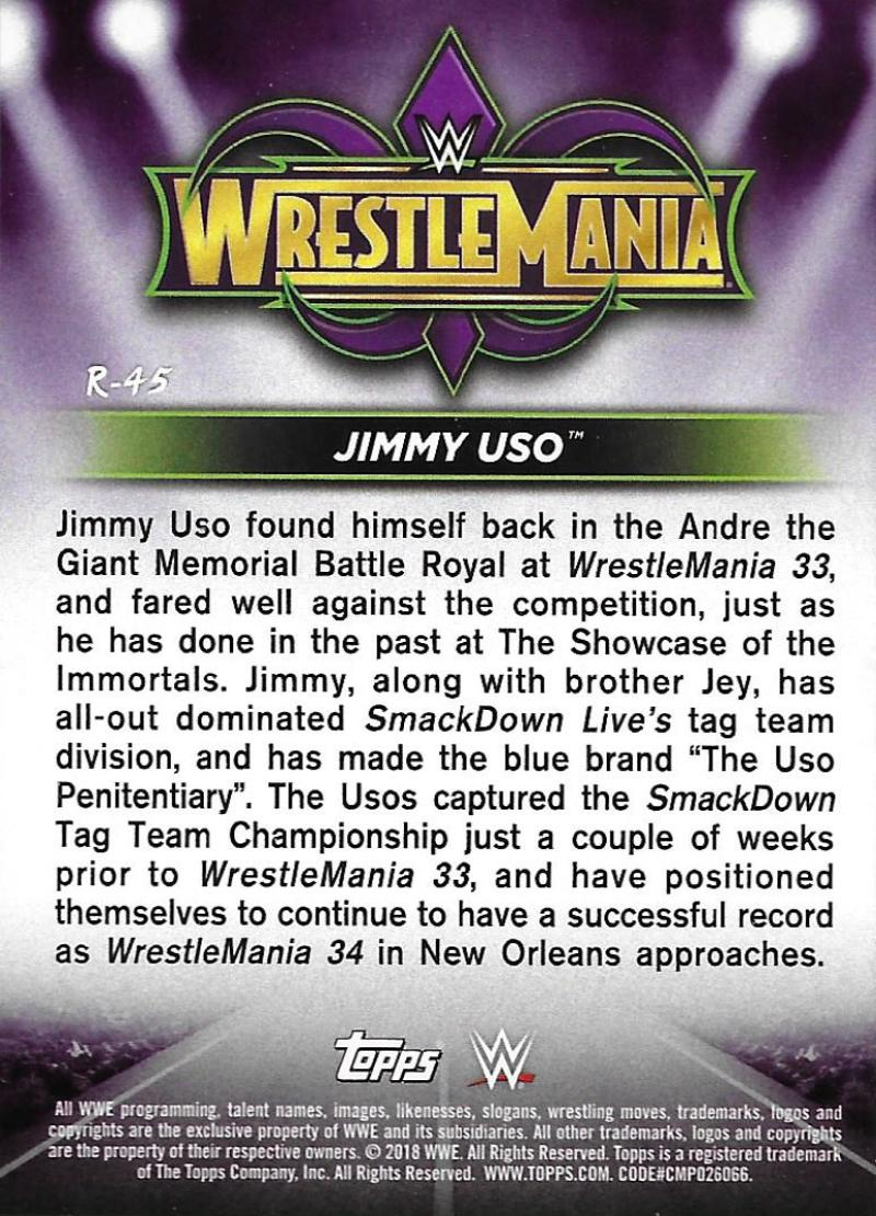 2018-Topps-WWE-Road-WrestleMania-Roster-Card-Singles-You-Pick-Complete-Your-Set thumbnail 57