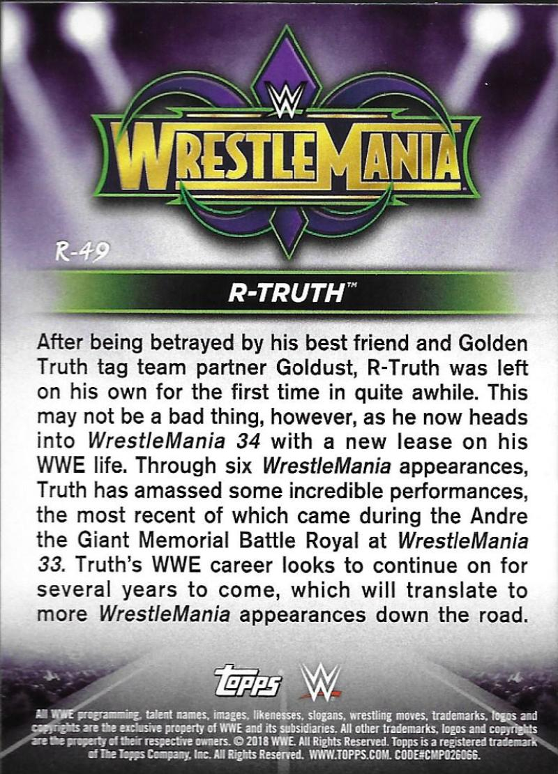 2018-Topps-WWE-Road-WrestleMania-Roster-Card-Singles-You-Pick-Complete-Your-Set thumbnail 65