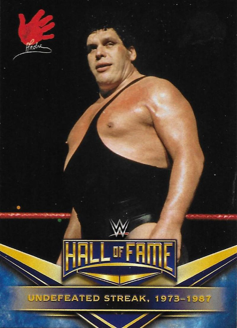 2018 Topps Road to WrestleMania WWE Hall of Fame Tribute