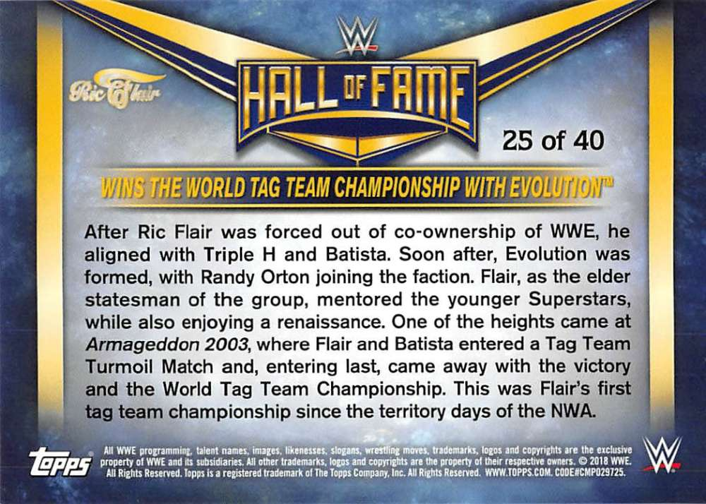 Lot-2018-Topps-Heritage-WWE-Ric-Flair-Hall-of-Fame-Tribute-Part-3-Pick-Cards thumbnail 9