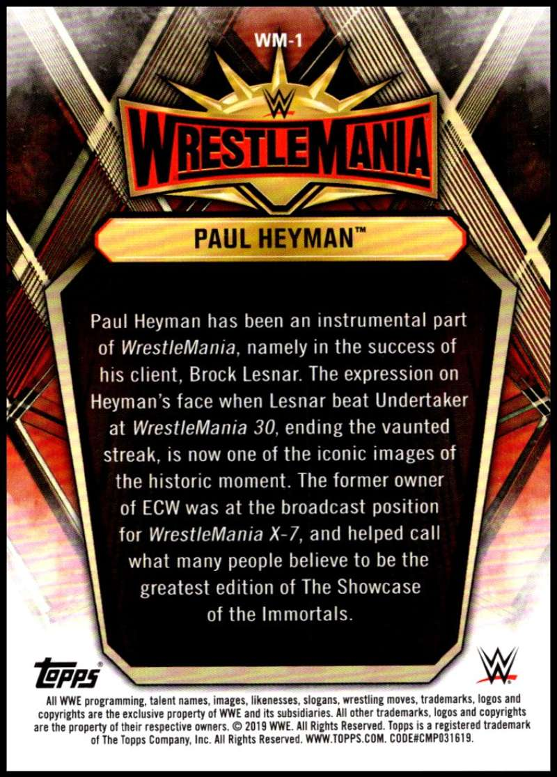 2019-Topps-Road-to-WrestleMania-Roster-Cards-WWE-You-Pick-Complete-Your-Set thumbnail 3