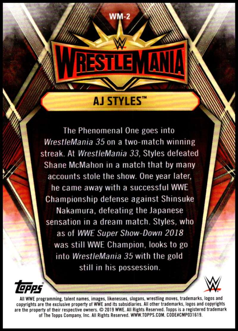 2019-Topps-Road-to-WrestleMania-Roster-Cards-WWE-You-Pick-Complete-Your-Set thumbnail 5