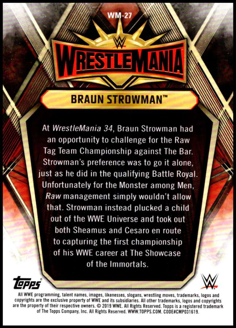 2019-Topps-Road-to-WrestleMania-Roster-Cards-WWE-You-Pick-Complete-Your-Set thumbnail 53