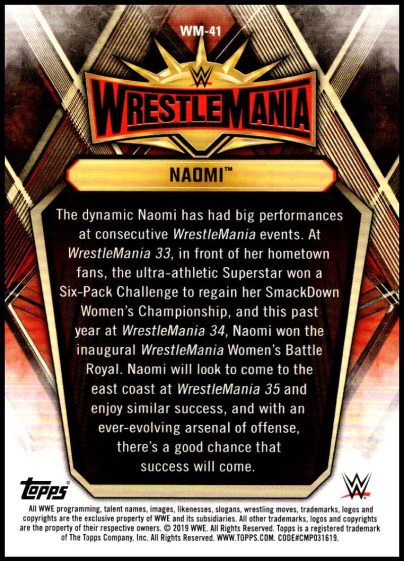 2019-Topps-Road-to-WrestleMania-Roster-Cards-WWE-You-Pick-Complete-Your-Set thumbnail 81