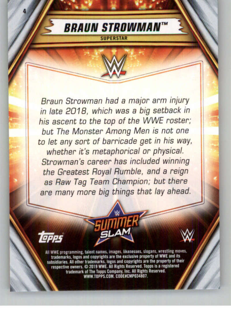 2019-WWE-Topps-SummerSlam-Parallels-Logo-Mat-Shirt-Relics-Pick-Your-Cards-Lot thumbnail 7
