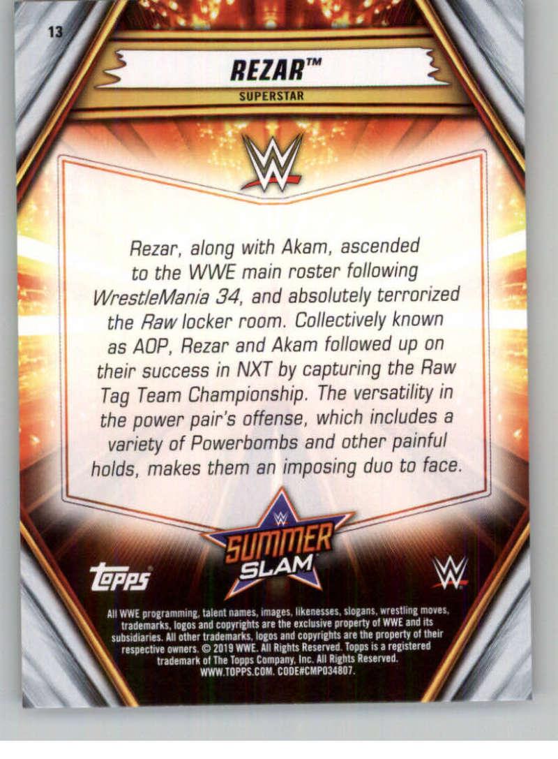 2019-WWE-Topps-SummerSlam-Parallels-Logo-Mat-Shirt-Relics-Pick-Your-Cards-Lot thumbnail 19