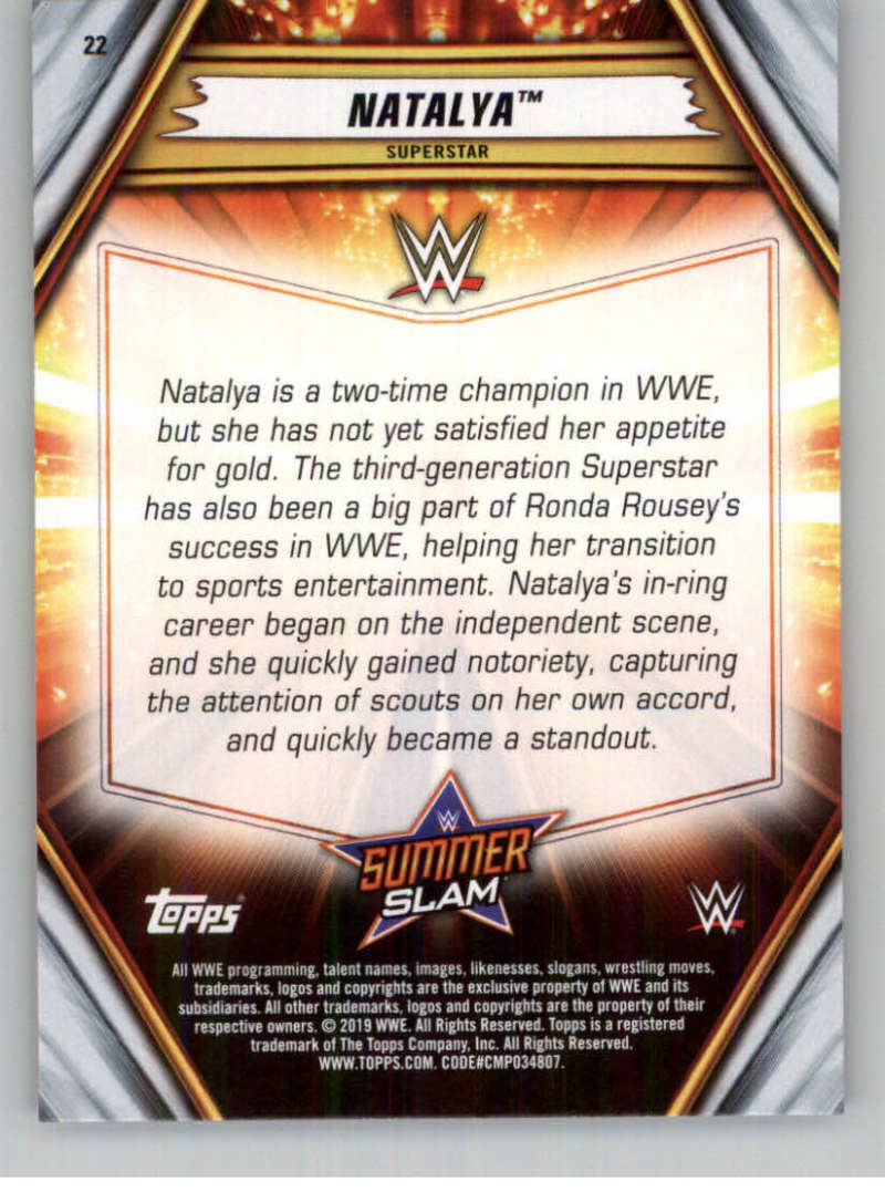 2019-WWE-Topps-SummerSlam-Parallels-Logo-Mat-Shirt-Relics-Pick-Your-Cards-Lot thumbnail 27