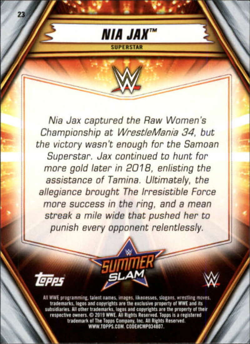 2019-WWE-Topps-SummerSlam-Parallels-Logo-Mat-Shirt-Relics-Pick-Your-Cards-Lot thumbnail 29