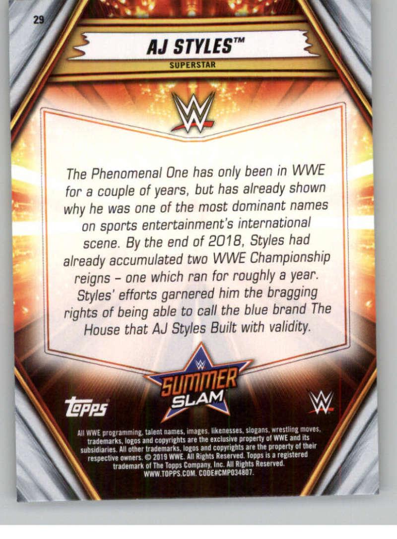 2019-WWE-Topps-SummerSlam-Parallels-Logo-Mat-Shirt-Relics-Pick-Your-Cards-Lot thumbnail 37