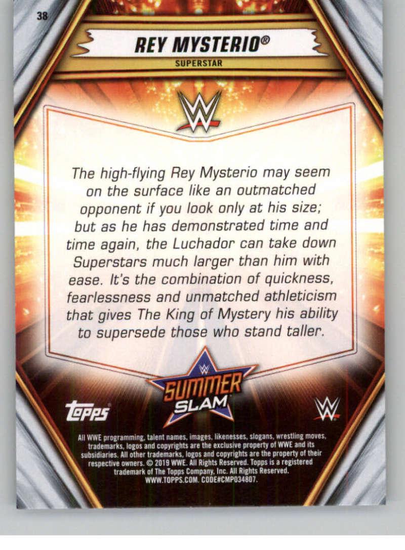 2019-WWE-Topps-SummerSlam-Parallels-Logo-Mat-Shirt-Relics-Pick-Your-Cards-Lot thumbnail 49