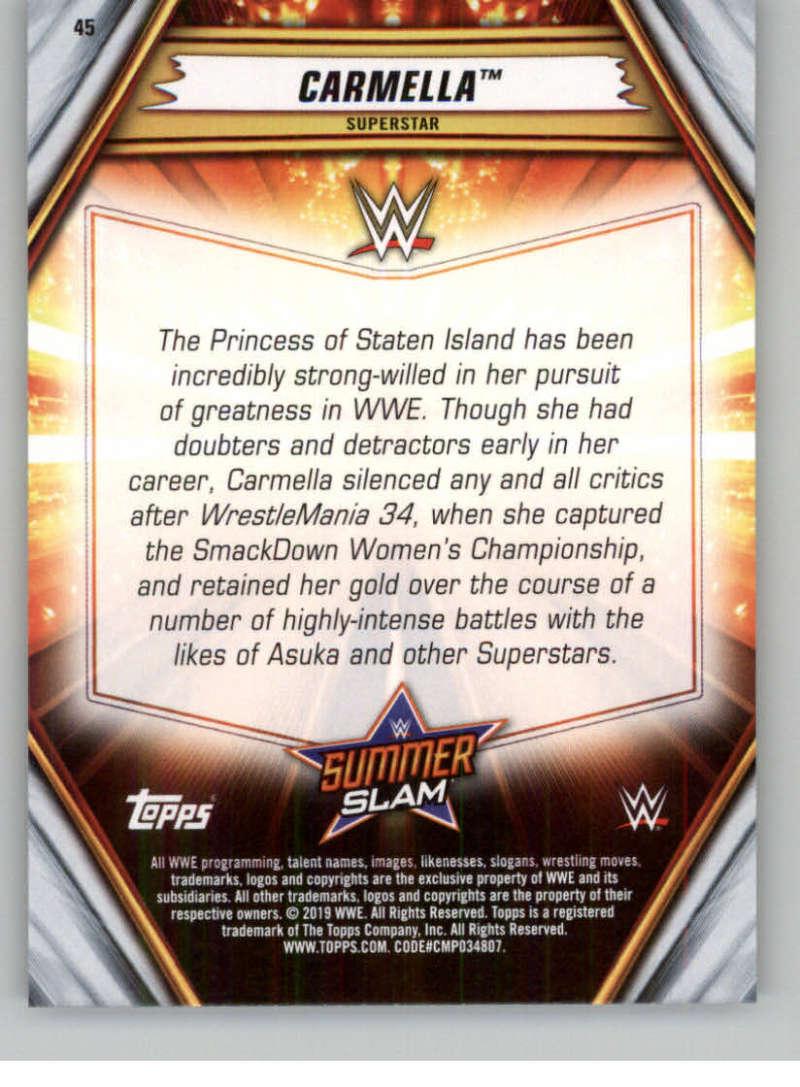 2019-WWE-Topps-SummerSlam-Parallels-Logo-Mat-Shirt-Relics-Pick-Your-Cards-Lot thumbnail 57