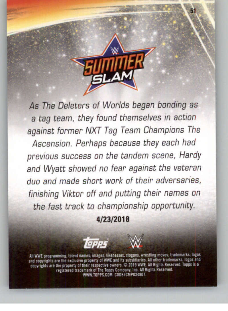 2019-WWE-Topps-SummerSlam-Parallels-Logo-Mat-Shirt-Relics-Pick-Your-Cards-Lot thumbnail 69