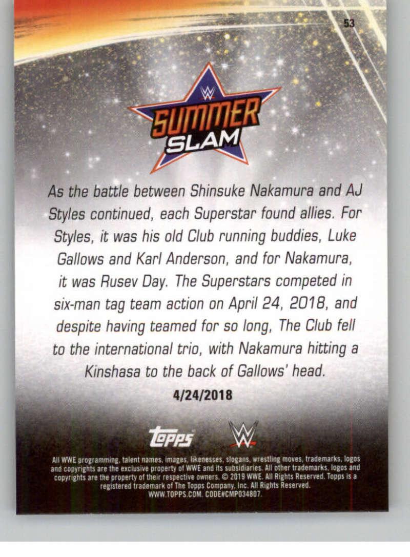 2019-WWE-Topps-SummerSlam-Parallels-Logo-Mat-Shirt-Relics-Pick-Your-Cards-Lot thumbnail 73