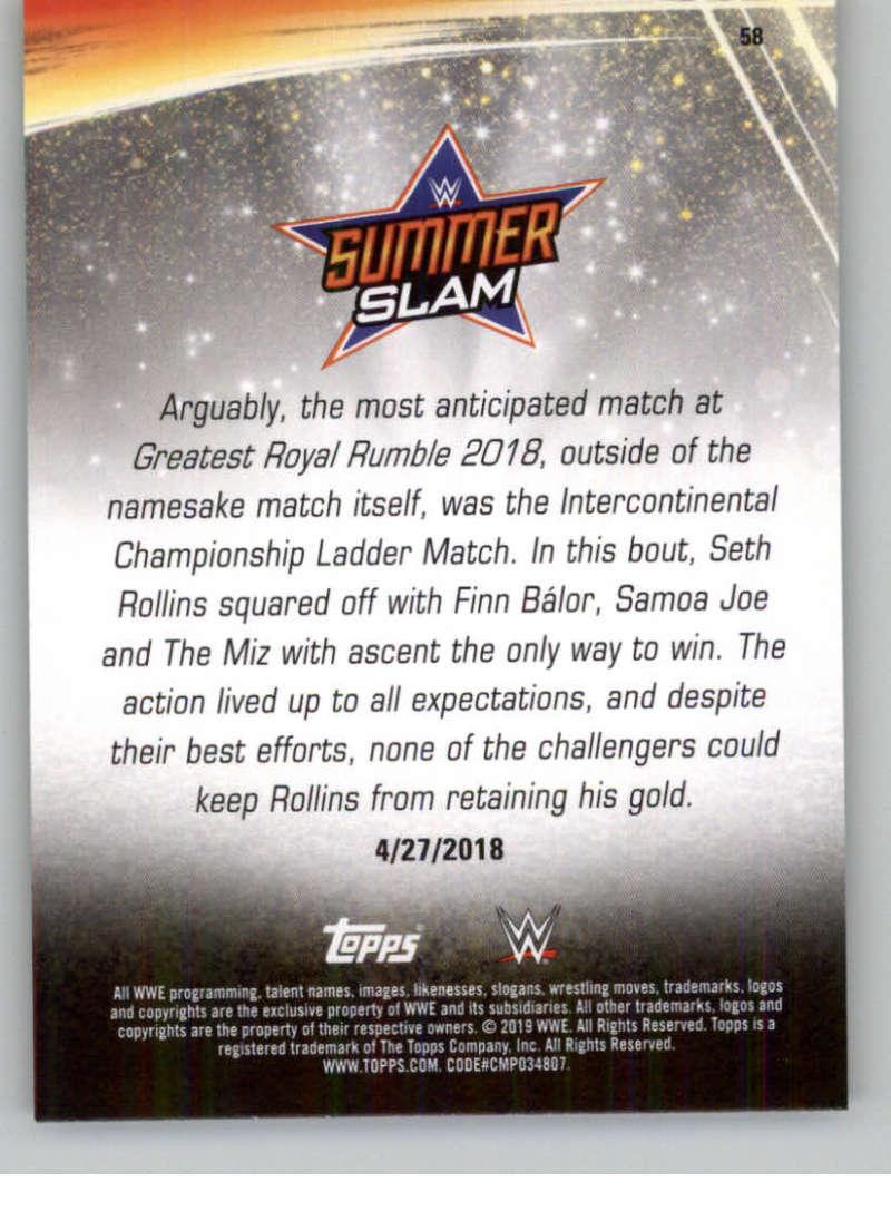 2019-WWE-Topps-SummerSlam-Parallels-Logo-Mat-Shirt-Relics-Pick-Your-Cards-Lot thumbnail 81